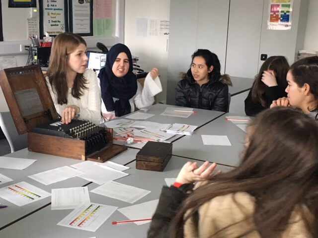 Year 12 and 13 learning just how technically difficult it was to crack the German codes