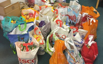 Holly Lodge Girls' College Foodbank collection.